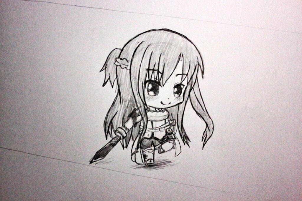 Drawing Chibi #6 Asuna (Sword Art Online) by Okuta129 on DeviantArt