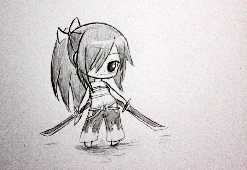 drawing chibi 8 erza scarlet fairy tail by okuta129 on