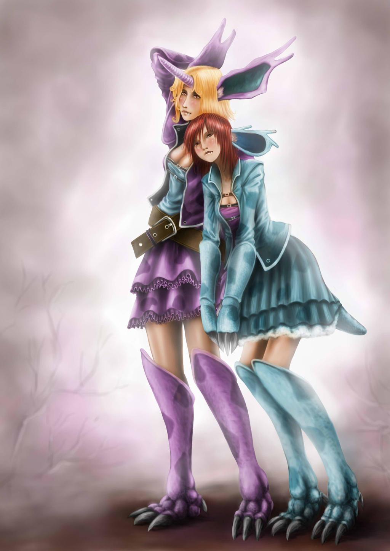 Nidorina and Nidorino by Petey-chan on DeviantArt