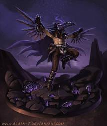 Mighty Raven Shaman by ALA1N-J