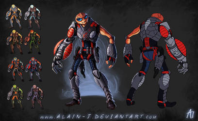 The Alien Strong Arm of the Law - Concept by ALA1N-J