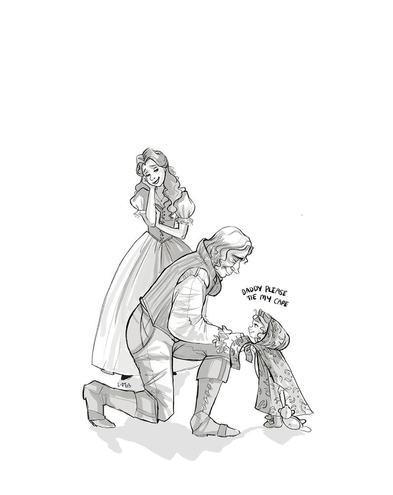 Rumbelle family by snoprincess