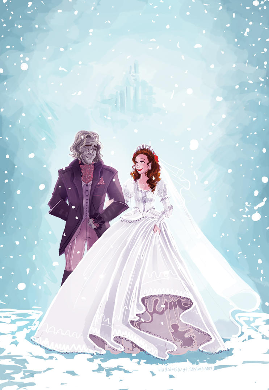 Rumbelle- Winter wedding by snoprincess on DeviantArt