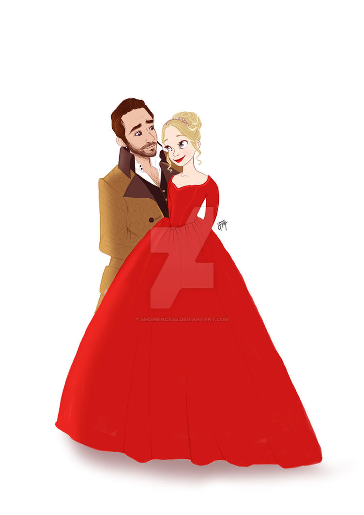 Captain Swan- Emma and Killian by snoprincess