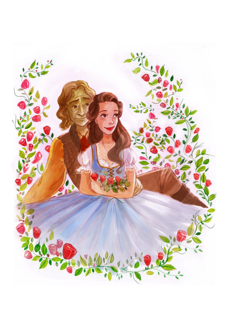 Rumbelle - Roses by snoprincess