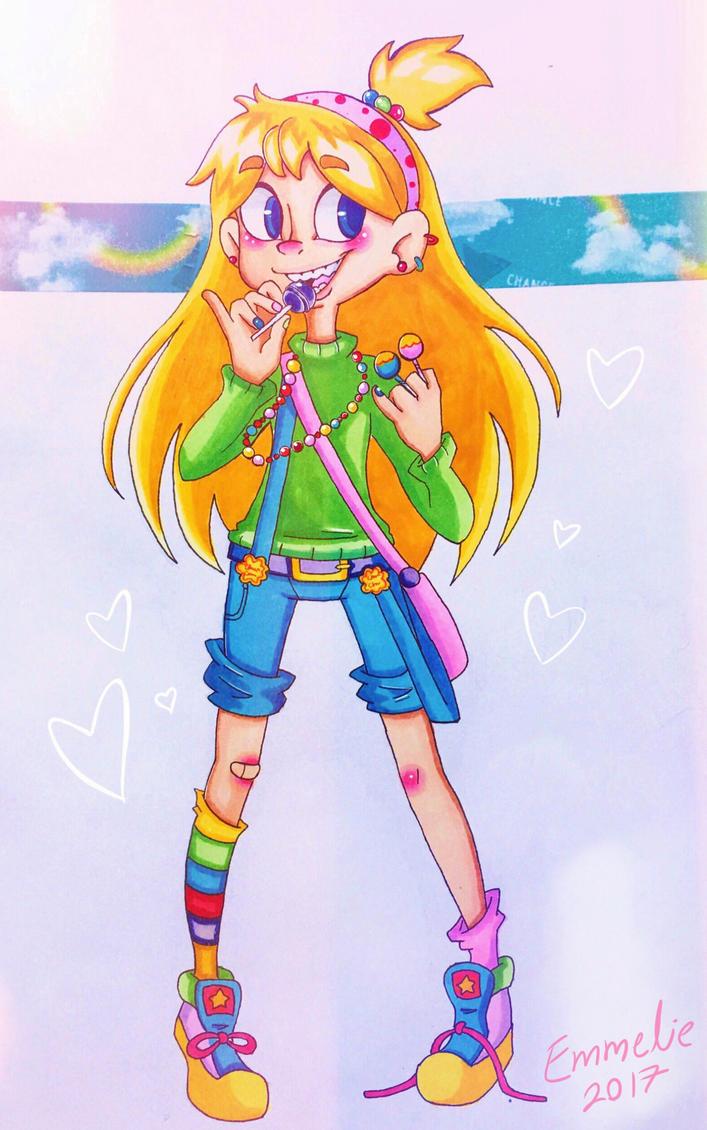 Chupa Chups girl by Emmelie-Blade