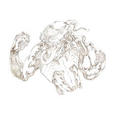 Venom Bust- Pencils by ParisAlleyne