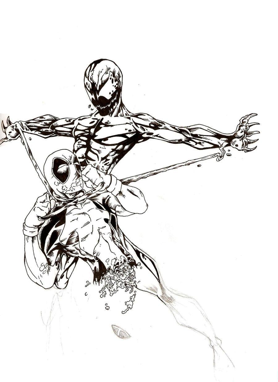 Carnage vs. Deadpool by ParisAlleyne