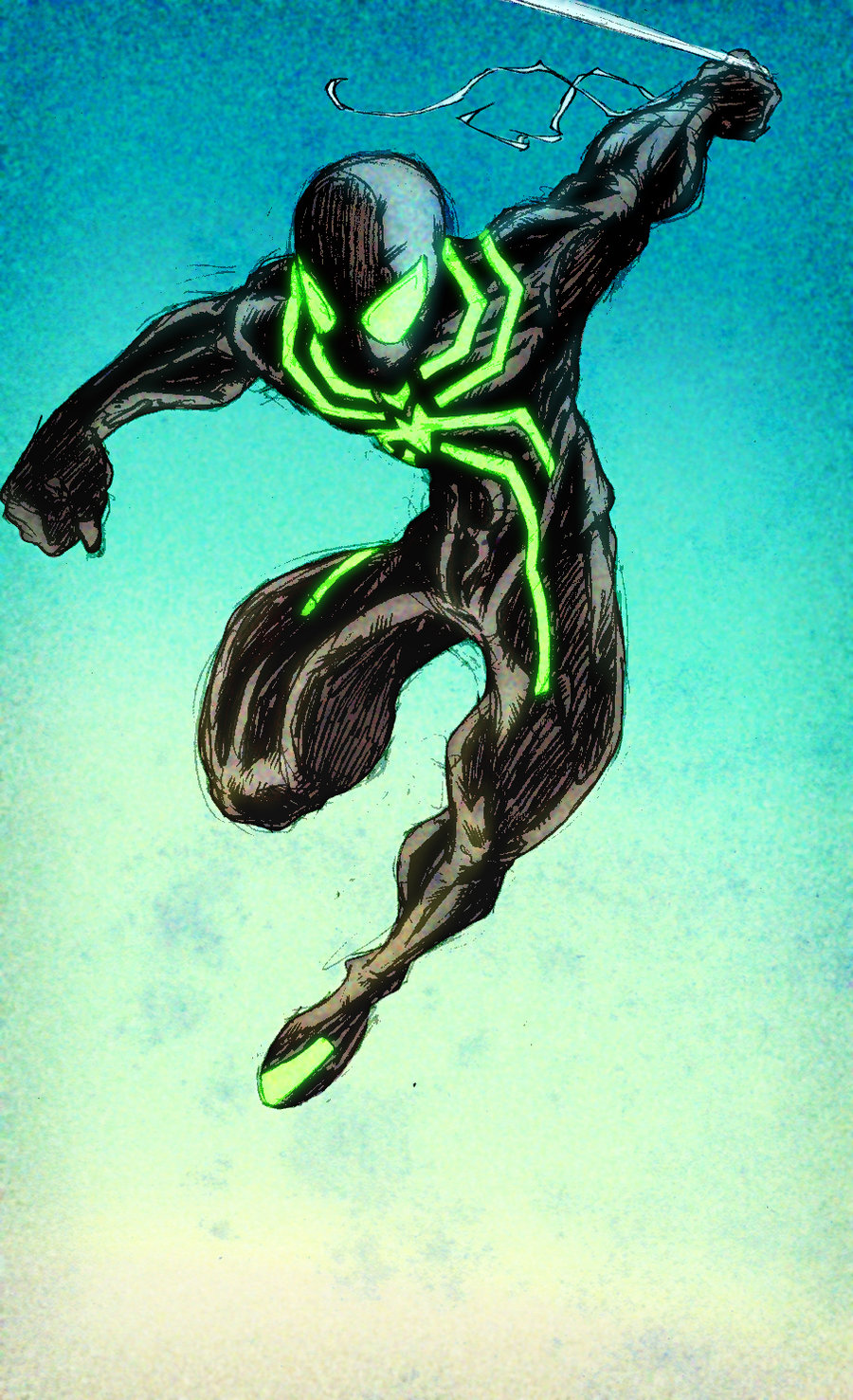 Neon Spider-man LimKichi cols by ParisAlleyne on DeviantArt