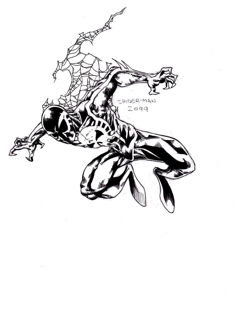 spider man 2099 inks by parisalleyne on deviantart