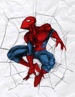 20 minute Spider-man sktech by ParisAlleyne