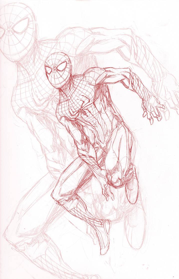 Amazing spider man pencils by parisalleyne on deviantart