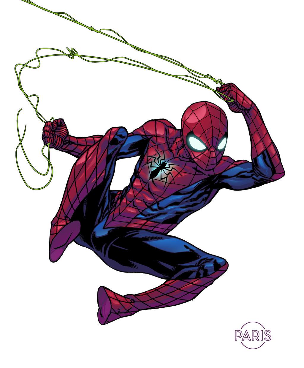 spiderman by parisalleyne on deviantart