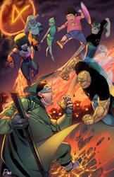 Fantastic 4 and the Crystal Gems vs Moleman