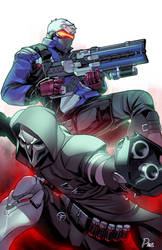 Reaper x Soldier 76 by ParisAlleyne