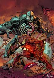 Venom x Carnage Collab by ParisAlleyne