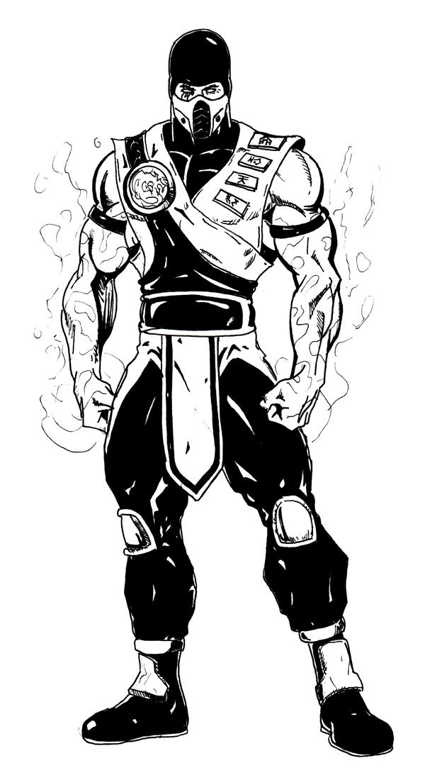 This is a photo of Comprehensive Mkx Scorpion Coloring Page