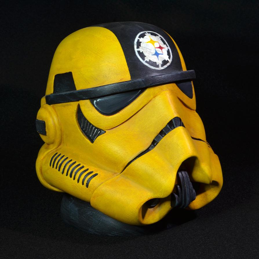 Steelers Stormtrooper Helmet by ecogmedia