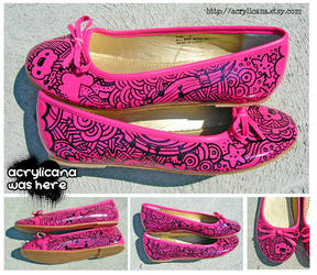Pink Music Shoes by marywinkler