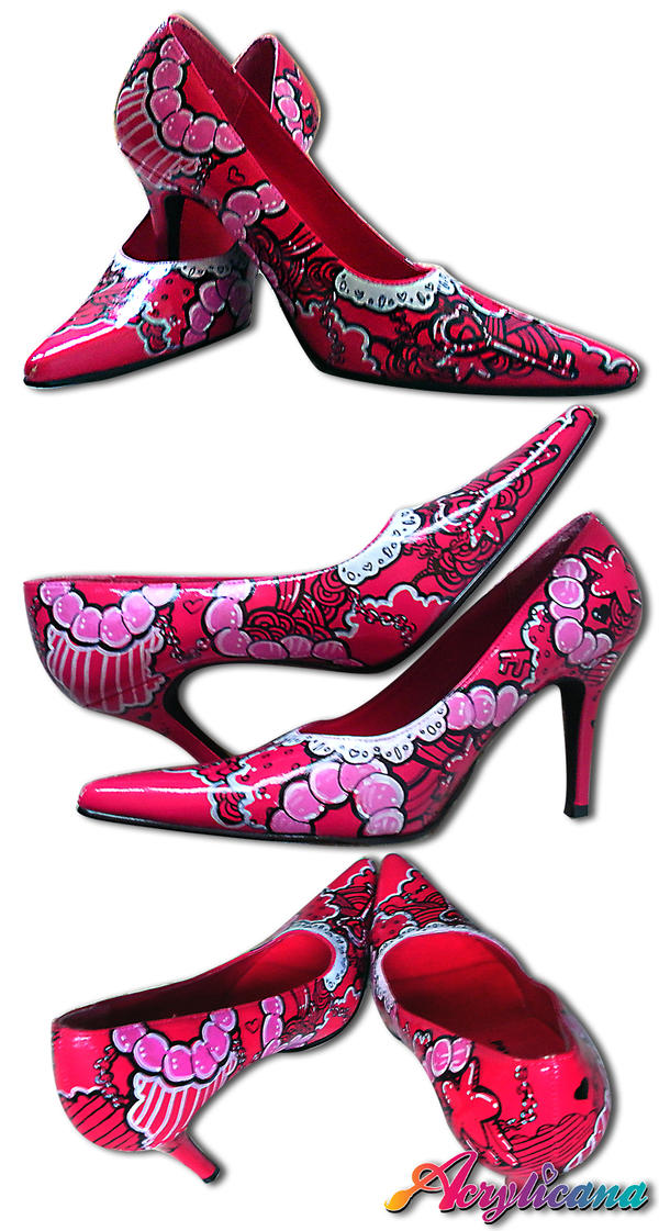 Sweetheart Pink Pumps by marywinkler