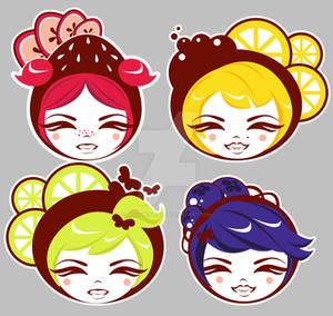 Fruit Girls Set