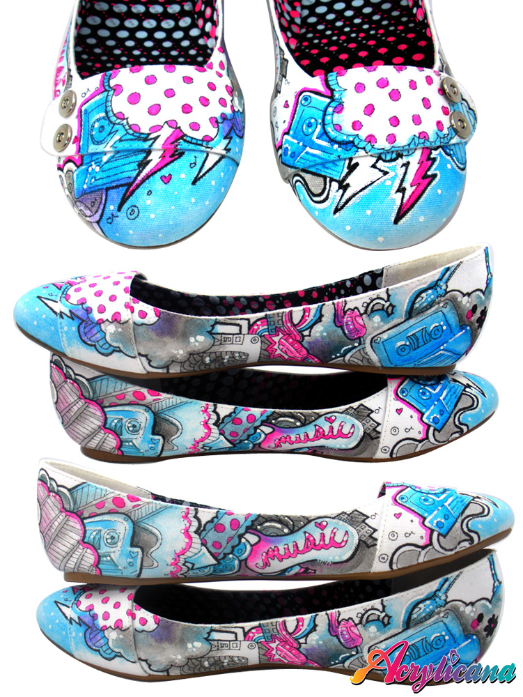 Retro Music Shoes by marywinkler