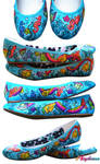 Sea Horse and Angelfish Shoes