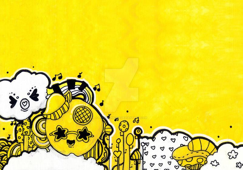 Black Yellow II by marywinkler