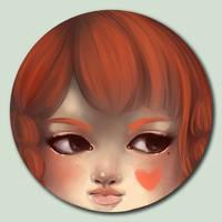 Little Face - Orange by marywinkler