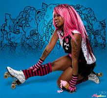 Poppin Fresh Roller Skates by marywinkler
