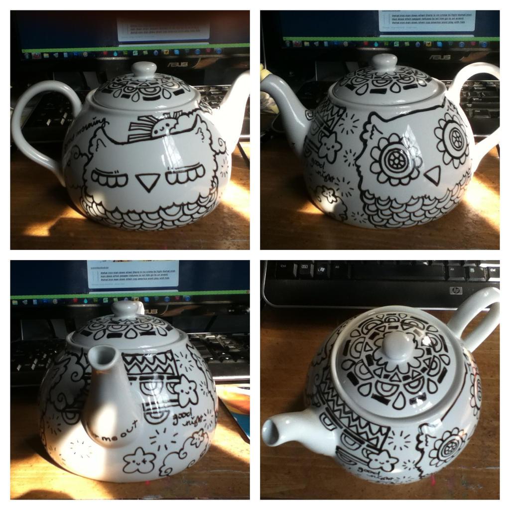 Owl Teapot by marywinkler