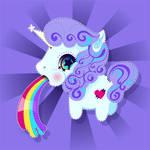 Tutorial: Unicorn Vomiting a Rainbow by marywinkler