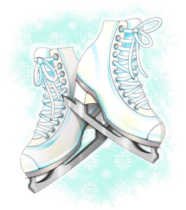 Tutorial: Watercolor Style Skates in Illustrator by marywinkler