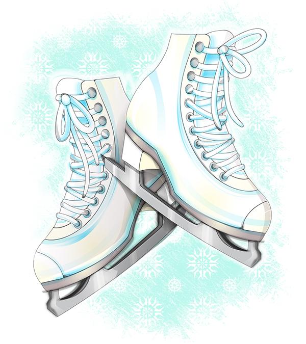 Tutorial: Watercolor Style Skates in Illustrator by marywinkler