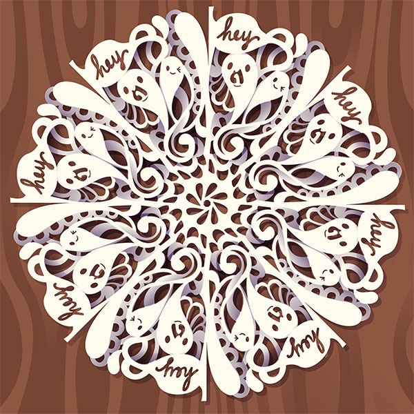 Tutorial: Digital Doodled Snowflake by marywinkler