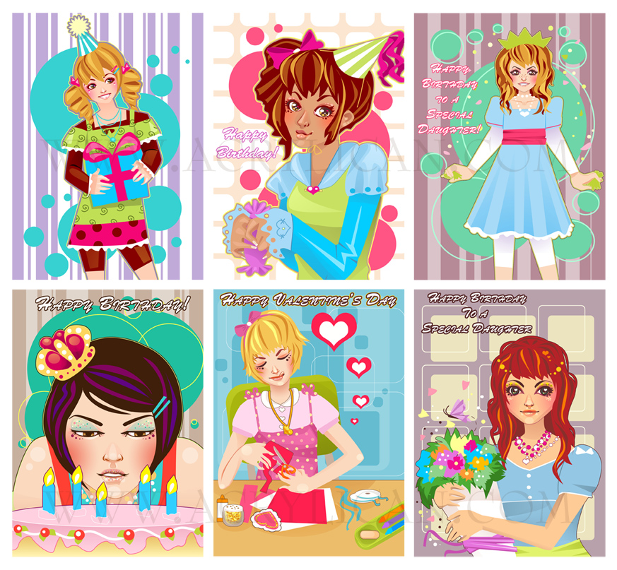 Freelance - Girly Card Designs by marywinkler
