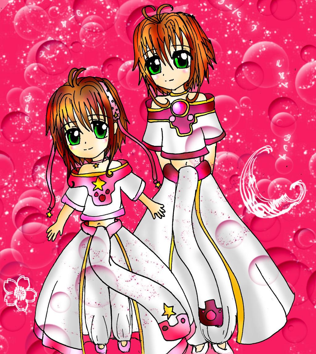 Princess Sakura 13931: Princess Sakura And Sakura Kinomoto By SwordOfBurningLight