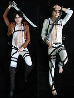 Cosplay dakimakura: Levi and Eren