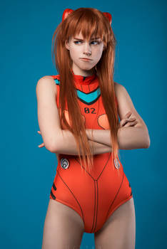 Asuka Langley in swimsuit