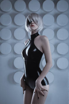 2B from Nier: Automata (latex suit)