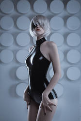 2B from Nier: Automata (latex suit) by pollypwnz