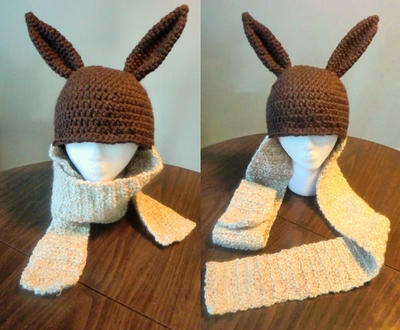 Crochet Eevee Hat And Scarf Combo By Lavilovepaw On Deviantart