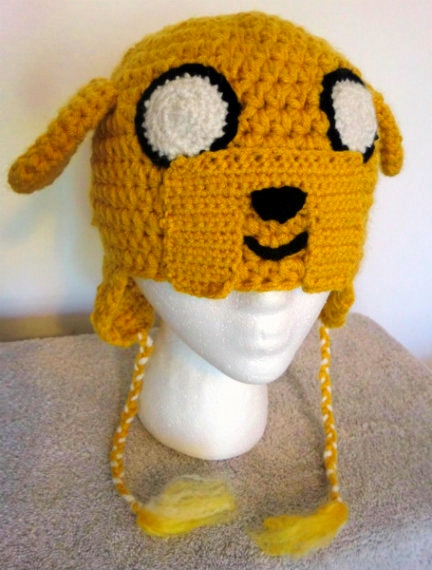 Adventure Time Jake the Dog Crochet Hat