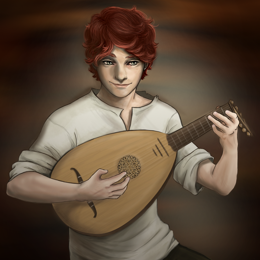Peinando a Kvothe Kvothe_and_his_lute_by_aibunny-d6w7yva