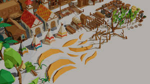 Low poly game assets [Wild West 2]