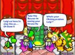 Luigi Peeing  Bowsers Throne