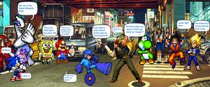 Megaman vs Drunk Ralf Jones in Public by CristianDarkraDx2496