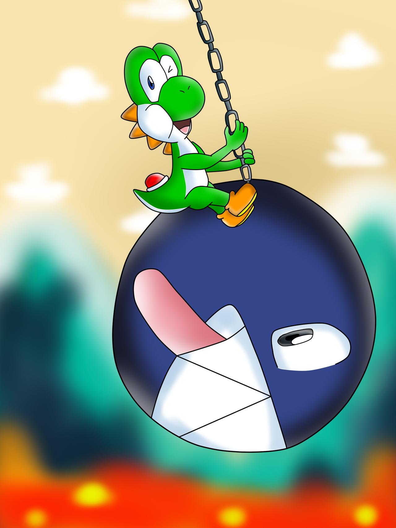 Yoshi's Chain Chomp Wrecking Ball by DarkraDx on DeviantArt
