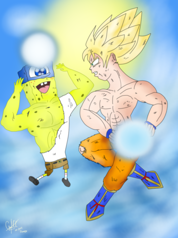 Goku Vs SpongeBob by DarkraDx on DeviantArt
