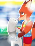 Nick Wilde and Judy Hopps at the Olympics